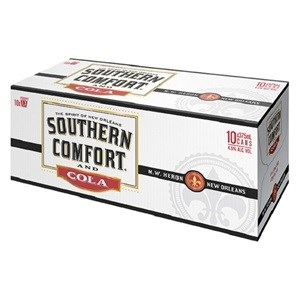 SOUTHERN COMFORT N COLA 10PK CANS 375ML