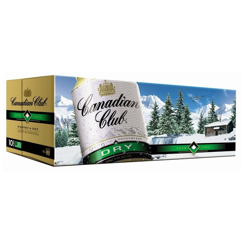 CANADIAN CLUB ZERO DRY 10 PK CANS CANADIAN CLUB ZERO,DRY 10 PK cans