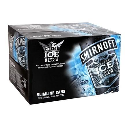 Smirnoff Black 12PK CANS SMV Black 12 PK CAN