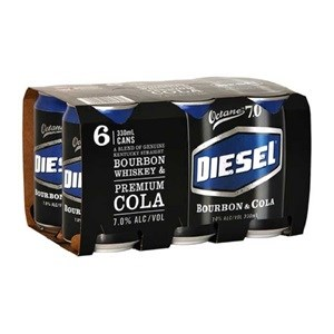 DIESEL 7% BOURBON AND COLA 6PK CANS 330ML