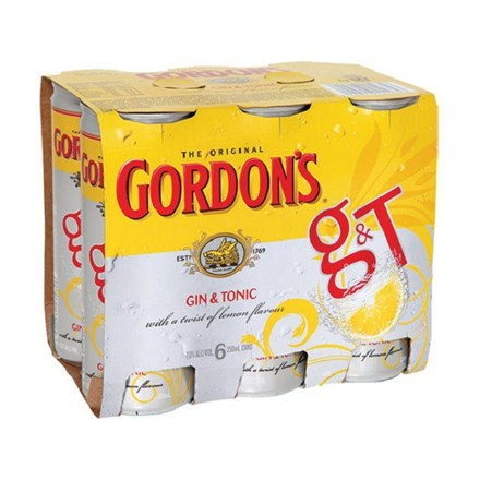 GORDON'S 6 PK CAN GORDON 6 PK CAN