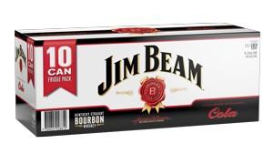 JIM BEAM 10PK CAN COLA JIM BEAM 10 PK CAN COLA