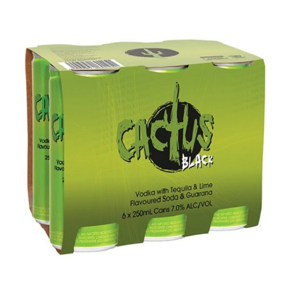 CACTUS BLACK 4X6PK 250ML CANS CACTUS BLACK 4X6PK 250ML CANS