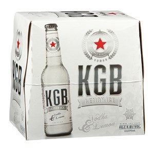 KGB Vodka Lemonade 12pk Bottles 275ml KGB Vodka Lemonade 12pk Bottles 275ml