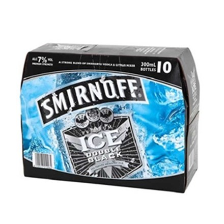 Smirnoff BLACK 10PK BTLS SMV BLACK10 TRAY