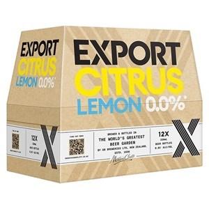 EXPORT CITRUS ZERO 12PK BOTTLES 330ML