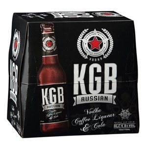 KGB Russian 12pk Bottles KGB Russian 12pk Bottles