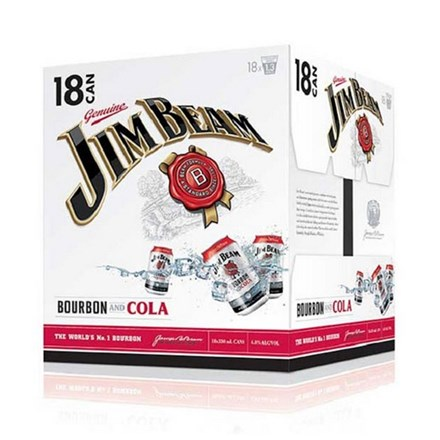 JIM BEAM 18PK CANS JIM BEAM 18 PK CAN
