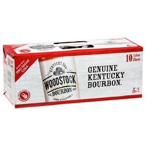 WOODSTOCK 5% BOURBON N ZERO COLA 10PK CANS 330ML